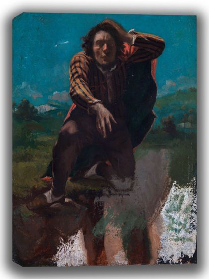 Courbet, Gustave: The Man Made Mad with Fear. Fine Art Canvas. Sizes: A4/A3/A2/A1 (003982)